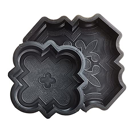 SET of 8 pavement slab moulds makers ornate pattern 4 small and 4 large