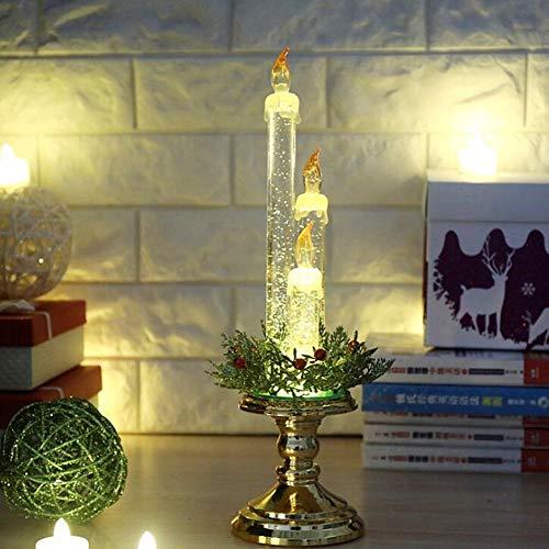 Hermoso Chen Velas navideñas Decoraciones navideñas Navidad Hotel Centro comercial Decoración Árbol de Navidad (Oro)