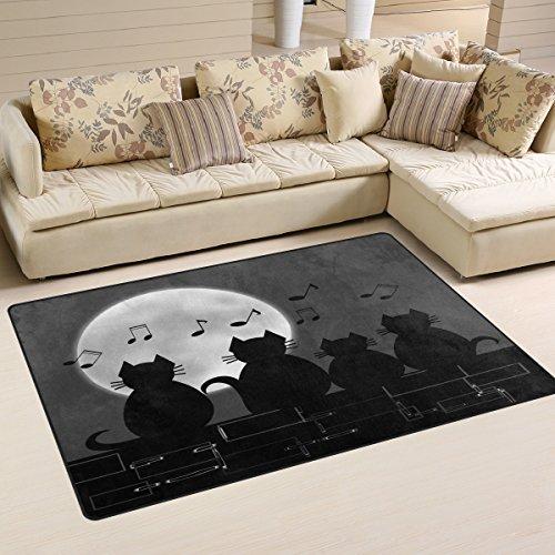 Use7 Rutschfeste Fußmatte mit Katzenmotiv, für Kinderzimmer, Wohnzimmer und Schlafzimmer, Textil, Mehrfarbig, 50 x 80 cm(1.7\' x 2.6\' ft)
