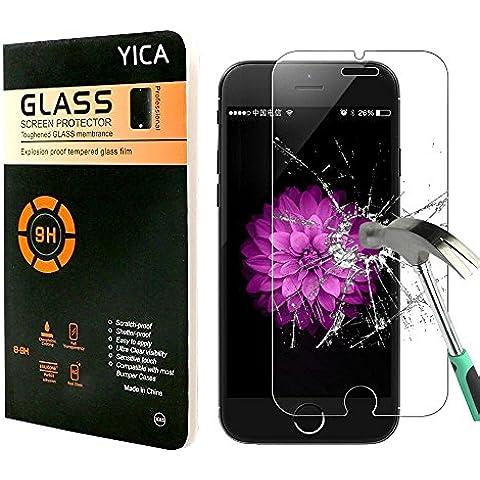 iPhone 7 Plus Protector de Pantalla, Yica la Pantalla Vidrio Templado Resistente a los Arañazos Protector Ultra Claro de la Pantalla más Duradero iPhone 7 Plus Protector de cristal de iPhone 7 Plus Protector de la Pantalla de Cristal
