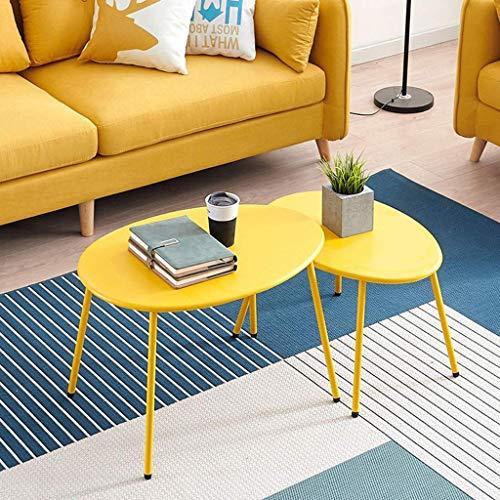 MOM Mesa pequeña multifuncional para el hogar - Mesa de centro Pequeña mesa de tatami pequeña Estilo japonés Estilo nórdico Hierro forjado Ocio Pequeño,Amarillo,70x50x45cm