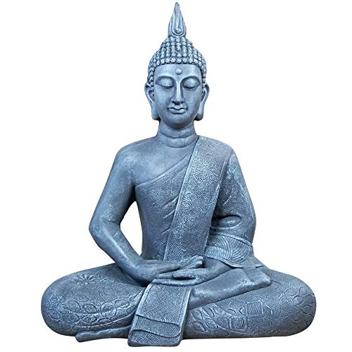 Large Buddha Statue 65 cm sitting Decorative figure for living room Sculpture XL