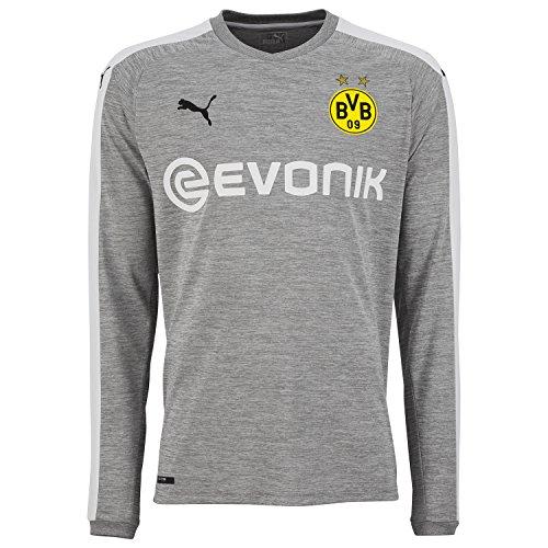 Puma BVB Borussia Dortmund Herren Promo 3rd Trikot 17/18-751660-03 Grau, Größe:L