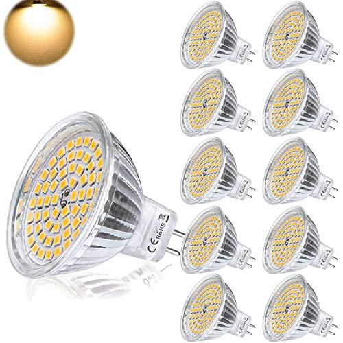 GU5.3 LED Warmweiß MR16 12V 5W Ersatz für 35W Halogen Lampen GU5.3 3000K 400 Lumen Birne Leuchtmittel 120°Abstrahwinkel Spot Nicht-Dimmbar Ø50 x 48 mm 10er -
