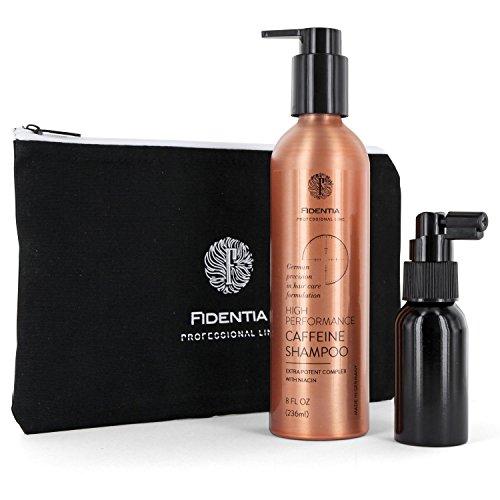 Fidentia Coffein Pflege-Set aus hochdosiertem Koffein Shampoo & Coffein-Propolis Tonikum bei Haarausfall und Schuppen (Wachstum-haar-shampoo)