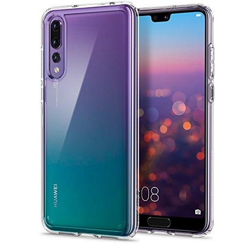 Spigen Ultra Hybrid Huawei P20 Pro Hülle (L23CS23989) Einteilige Transparent Handyhülle Durchsichtige Rückschale mit Silikon Bumper Schutzhülle Case (Crystal Clear)
