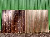 Bambuszaun Gartenzaun Bambus Sichtschutzzaun Sichtschutzwand Bambus Malaysia (180 x 180 cm Black)