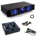 PA Erweiterungs Anlage 3000W Verstärker USB MP3 Mischpult Mikrofon DJ-Add-On 5