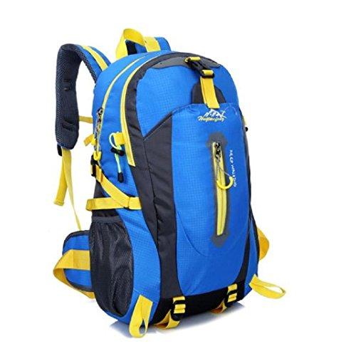 Lanspo 40L Rucksack Outdoor Wandern Camping wasserdicht Nylon Reisegepäck Rucksack Rucksack Tasche für Männer Frauen Blau