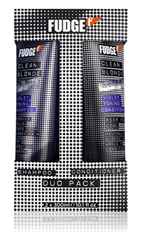 Fudge Duo Shampoo and Conditioner, Clean Violet Blonde 300 ml