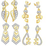 VK Jewels Gold and Rhodium Plated Alloy ...