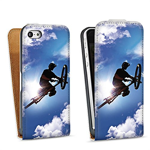 Apple iPhone 4 Housse Étui Silicone Coque Protection VTT Bicyclette Sport Sac Downflip blanc