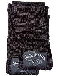 Jack Daniels Classic Logo Old No 7 Emblem Official Mens Black Scarf Accessory Size