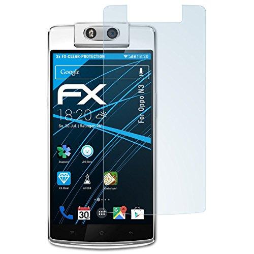 atFolix Schutzfolie kompatibel mit Oppo N3 Folie, ultraklare FX Bildschirmschutzfolie (3X)