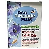DAS gesunde PLUS Omega-3 Leinöl 1000 Kapseln (30 Kapseln)