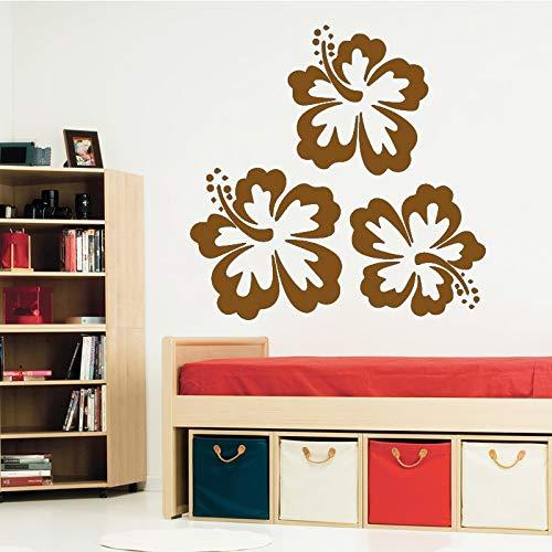 yiyiyaya Belle Fleur Vinyle Papier Peint Rouleau Meubles Décoratif pour La Chambre Décoration Autocollant Décor À La Maison café 43 cm X 42 cm