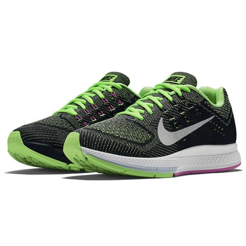 Nike - W Air Zoom Structure 18, Scarpa Donna Nero/Lime/Argentato