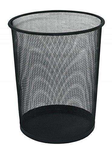 Kosz na smieci Q-Connect metalowy 19L czarny