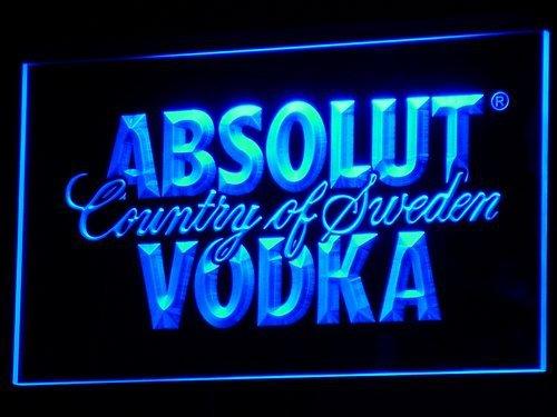 Absolut Wodka LED Leuchtschild Leuchtwerbung Reklame Bar Club Kneipe Bistro NEU