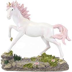 Beautiful tamaño Grande Rosa Unicornio mágico Fantasía Adorno hogar Regalo