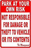KODY HYDE Metall Poster - Park at Your Own Risk - Vintage