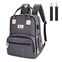 Luchild Diaper Bag Nappy Backpack Multi-Function Waterproof Travel Nappy Bag for Baby Care, Large Capacity, Durable and Stylish Changing Bag for Mom and Dad