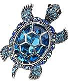 Loveangel Jewellery Women's Crystal Big Turtle Pin Brooch Pendant Scarf Buckle