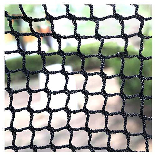 Knotenloses Netz-Geländer-Balkon-Treppen-Sicherheitsgeländer-Haustier-Ineinander Greifen-Geländer-Filetarbeits-Golf-Fußball-Baseball-Tennisplatz-Netz-im Freiengarten-Schutz-Filetarbeits-Schwarzes