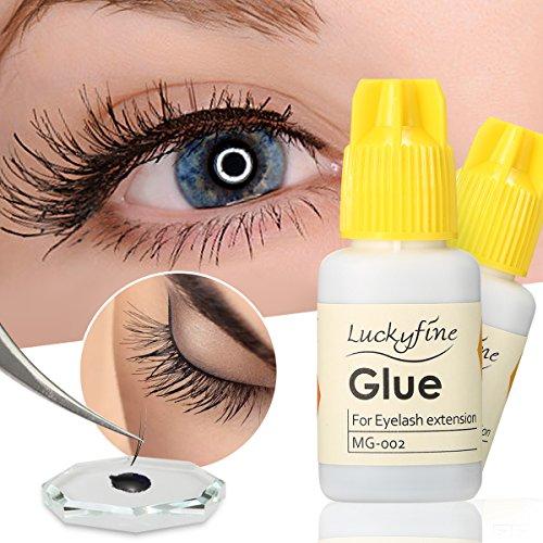 Colle Adhésif pour Faux Cils LuckyFine Colle pour Faux Cils Eyelash Adhesive Imperméable Colle Adhésif Fort 10g