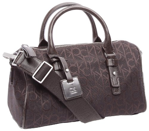 Calvin Klein Jeans Satchel k53070C5800, Borsa a mano donna 30x 15x 16.5cm-Marrone lucido, Poliestere