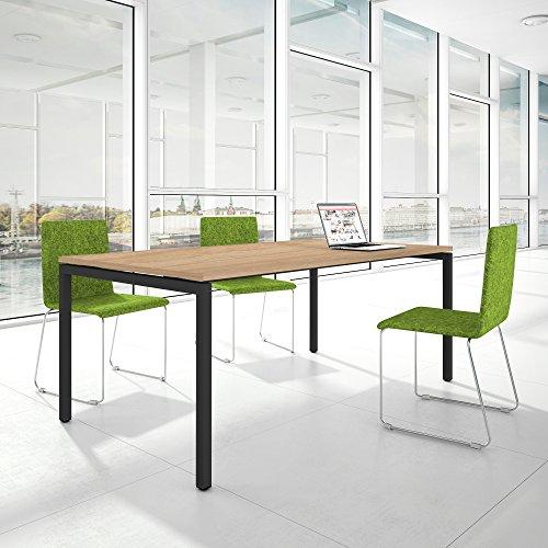 Weber Büro PROFI Besprechungstisch 200x100cm NOVA U 4-8 Pers. Konferenztisch Meetingtisch,...