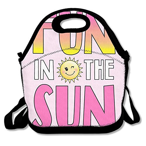 9ec6e49fd558 Fun In The Sun Lunch Boxes Lunch Bags Handbag Food Storage Fits For School  Travel Work Outdoor