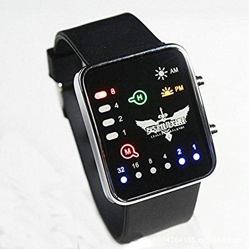 LAIE Kost¨¹m Anime League of Legends-Uhr-Armbanduhr mit Cool Led Bleach (Cosplay Anime Uhr Armbanduhr)