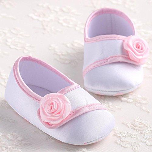 Lauflernschuhe Baby 0 18 Branco Meses Krabbelschuhe Girl ~ Babyschuhe Longra Rosenstoff PC5n75IH