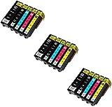 Printing Pleasure 15 XL Druckerpatronen für Epson 33XL XP-530, XP-540, XP-630, XP-635, XP-640, XP-645, XP-830, XP-900 | kompatibel zu Epson T3351, T3361, T3362, T3363, T3364