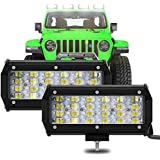 "2 Piezas LED 7"" 6000K 240W 12000LM 9-30V 4 Filas 8D Lente 96 LED Barra OFF-ROAD Light Bar Proyector 800M Luz Trabajo Punto Lu"