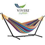 Vivere UHSDO8-20 Hamac Double avec Support Tropical 250 x109 x 104 cm