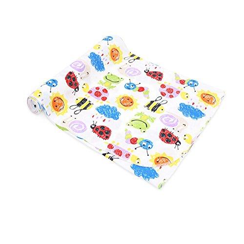 CuteOn Neonato Swaddle bambino Coperte Ricezione - 100% Cotone - Super morbido per Bambino Regalo doccia 81 Insect 33.46