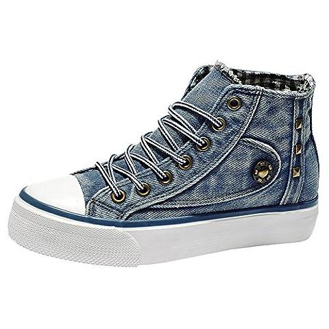 Scothen Womens Sneaker Slip Sneakers Sporty Sneakers Sport Fitness Sneakers Canvas Shoes Denim Sports Sneakers Girls Sneaker Canvas Shoes High Top Shoes