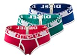 Diesel 3er Pack Damen Slip, Oxi Threepack Panties XS-L - Farbauswahl: Farbe: Rot/Grün/Blau | Größe: 40 (Gr. Large)