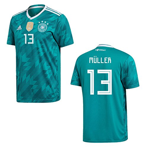 DFB DEUTSCHLAND Trikot Away Kinder WM 2018 - MÜLLER 13, Größe:140