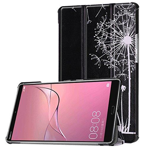 KATUMO Huawei MediaPad M5 8.4 Hülle Case - Ultra Slim Leder Tasche Hülle Skin für Huawei MediaPad M5 8.4 Zoll 2018 Modell Tablet PC Schutzhülle Smart Case Cover mit Standfunktion (Schwarzes Paar)