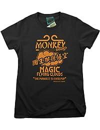 Bathroom Wall Monkey Inspired Magic Flying Cloud, Women's T-Shirt