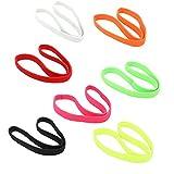 Lumanuby 7 Pcs Large bande élastique Bandeau de sport léger pour Bandeaux extensibles pour les cheveux Headwear Idéal pour la course à pied Yoga chaud et entraînements athlétiques