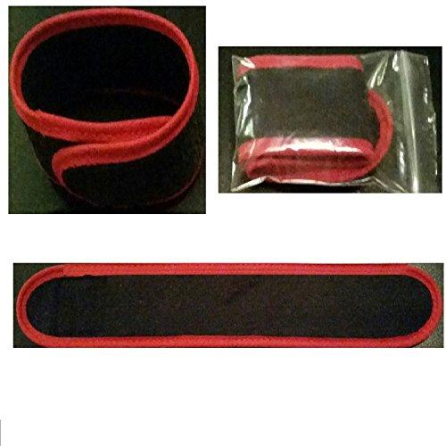 10 x Rutenklettband 25 cm x 4 cm weiches Material ( SCHWARZ ROT ) Premium Angeln Ruten Camping Garten Haushalt Rutenhalter