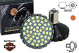 Lampada Led BA15S 1156 Per Moto Harley Davidson Canbus No Errore Luce Stop O Luce Frecce No Polarita 48 Smd 2835 (Arancione)