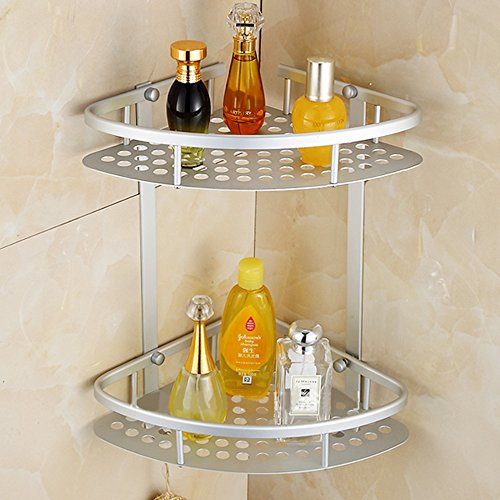 MultiWare Shower Caddy Shelf Shampoo Basket Holder Bathroom Corner Storage