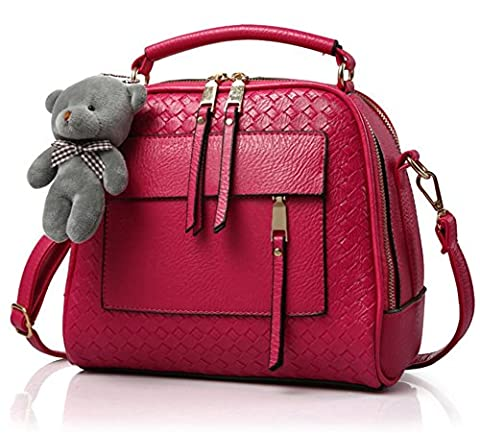 YAAGLE Contract PU Leather Bears Shoulder Leisure Hand Bag For Girls and Women