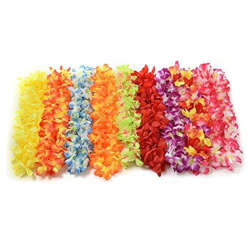 Hawaiian Flower Garland, Silk Flower Garland Stirnband Hula für Sommer Beach Party Kostüm Kleid 9st