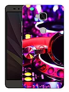 "Humor Gang Dj Mix Life Printed Designer Mobile Back Cover For ""Huawei Honor 5X"" (3D, Matte Finish, Premium Quality, Protective Snap On Slim Hard Phone Case, Multi Color)"